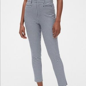 Gingham cropped pants